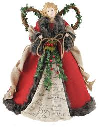 16 Red Homespun Angel Tree Topper