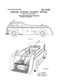 100 Fire Truck Wall Art Patent 1939 Patent Prints Decor Man Gift