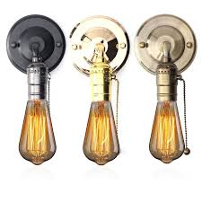 3 style vintage copper iron wall light sconce holder colorful l