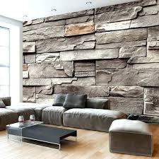 graue steinwand wohnzimmer ideen grau ausergewohnlich