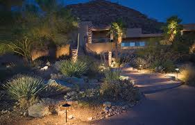 desert accents with kichler landscape lighting