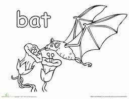 First Grade Coloring Worksheets Fruit Bat Page