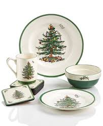 Spode Christmas Tree Mugs With Spoons by Spode Christmas Tree Sets Collection Dinnerware Dining