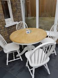Painted Round Table And 4 Chairs In SE18 London Für 90,00 ... Stylish Painted Round Ding Table And Chairs Otograph Ding Table 6 Chairs Choice Of Fabrics In Rochdale Classy Glass Top Room Sets With Royal Thrill Of The Hunt Ashland Va Gypsy Soul Pictures Of Painted Tables Ugarelay Excellent Diy Projects Chalk Paint Makeover Sarah Joy Fancy Wooden Pedestal Base Wood For In Lovely Annie Sloan Old Ochrecocodark Wax Paint Fniture 4 Se18 Ldon Fr 9000 Ne34 Tyneside For 13000 Chair 40 Phomenal Small Kitchen