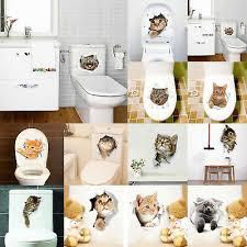 3d wandaufkleber katzen wandbilder schrank badezimmer wc