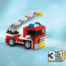 DECOOL 3102 City Creator 3 In 1 Mini Fire Truck Rescue Building ...