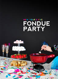 New Years Eve Fondue Party