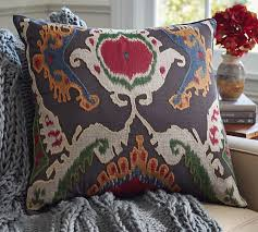 Pottery Barn Decorative Pillow Inserts by Mercer Ikat Applique Pillow Cover Pottery Barn 69 50 24