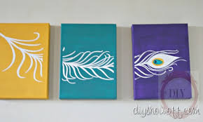 DIY Peacock Feather Triptych