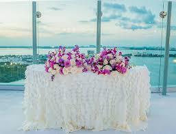 Chic Beach Palace Sky Wedding