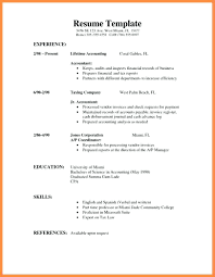 Simple Training Plan Template Example Of Curriculum Vitae How Write Resume Examples Top Templates Basic Qualifications References Accomplishments Area