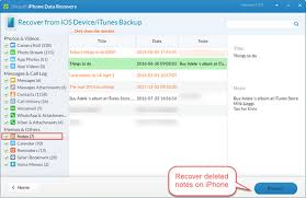 How to Recover Deleted Notes on iPhone 7 SE 6S 6 5S