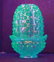 Vintage Fenton Fairy Lamps by Vintage Fenton Art Glass Hobnail Beautiful Blue Fairy Lamp Uranium