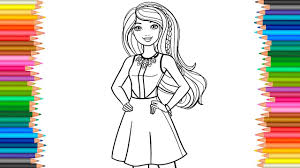 Barbie Coloring Page 2Coloring Book Princess Video For Children