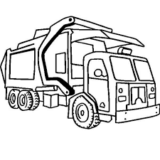 Best Garbage Truck Coloring Page 13 For Free Book With