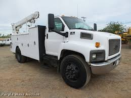 100 Chevy Service Truck 2005 Chevrolet C6500 Service Truck With Crane Item DB0239