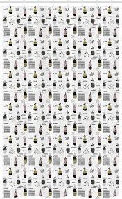 abakuhaus duschvorhang badezimmer deko set aus stoff mit haken breite 120 cm höhe 180 cm skandinavisch doodle ananas kaufen otto