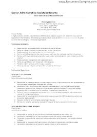 Resumes For Executive Assistants Sample Resume Assistant Office Manager Summary Associate Examples Of