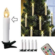 10pcs Christmas Tree Decoration Wireless LED Candles 12 Colors Remote Control Battery Operated Light For Hallowmas