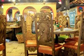 Monarcas Authentic Mexican Cuisine Bar Grill Furniture Was Hand Carved In Mexico