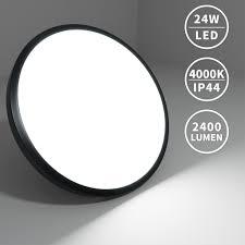 24w led deckenleuchte schwarz deckenle wohnzimmer küche badleuchte le 4000k ip44