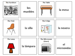 Furniture Spanish Vocabulary Card Sort By Ineedtoteachthat
