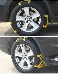 100 Snow Chains For Trucks 3Pcs Emergency Universal Adjustable Suv Car Auto Mud