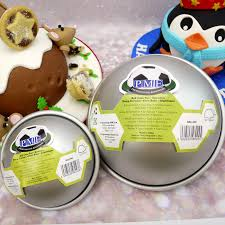 Set Of 2 Half Ball Cake Tins S M By PME