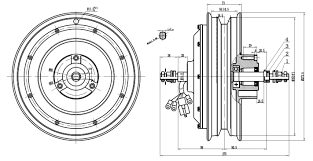 Drawing Of 10inch Scooter Motor