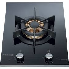 Hotpoint Luce GX641FGK 60cm Direct Flame Gas Hob in Black Glass