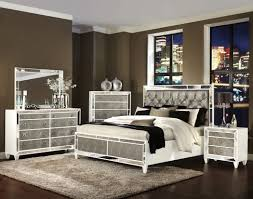 Ortanique Round Glass Dining Room Set by Monroe Pearlizzed White Wood Glass 2pc Bedroom Set W Queen Bed
