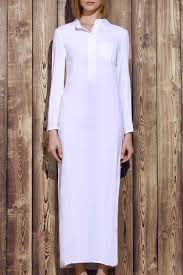 solid color stylish plunging neck long sleeve maxi dress for women
