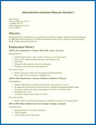 Objective For Resume Examples Administrative Assistant Ndash Perfect