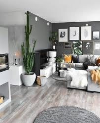 hout en grijs veel groen wohnzimmer ideen wohnung wohnung