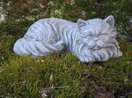 cat garden statue cat statue concrete cat statues haired cat figure
