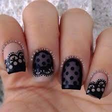 Nail Nail Art White Grey Black Weddbook