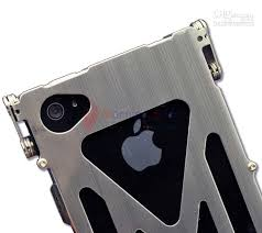 Cool Silver Brushed Aluminum Rotary Door Metal Hard Case Skin For
