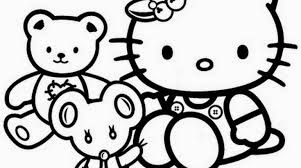 Baby Coloring Book Games Hello Kitty Pages Print