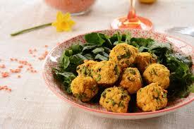 cuisine lentille falafels aux lentilles corail et épinards vegan au fil du thym