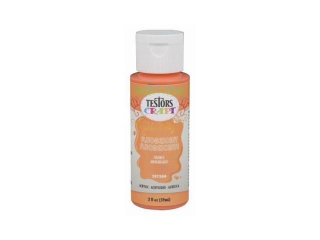Testors Craft Acrylic Paint - Orange, 2oz