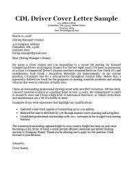 CDL Driver Cover Letter Sample Resume Image