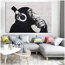 zhangshuaiffbh schwarz weiß leinwand malerei tiere poster