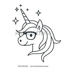 How To Draw A Easy Unicorn Coloring Pages For Kids