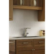 Thinset For Glass Mosaic Tile by Shop Elida Ceramica Chelsea White Ceramic Mosaic Scale Indoor