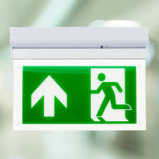 led exit sign camber emergency lighting