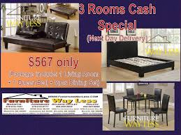 3 rooms special i furniture way less