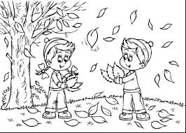 Kindergarten Fall Coloring Pages Superb Landscape Page Free Rubric To Print Printable Sheets Back School
