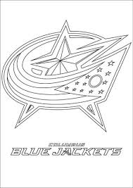Click To See Printable Version Of Columbus Blue Jackets Logo Coloring Page