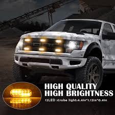 100 Strobe Light For Trucks Amber 12 LED Flash Bar Car Truck Hazard Beacon Warning