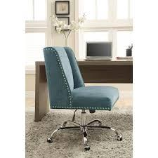 Linon Home Decor Draper Charcoal Microfiber fice Chair